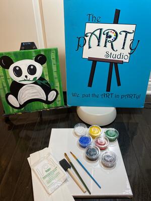 "Kids ""Cute Panda"" 12x12 Canvas & Paint"
