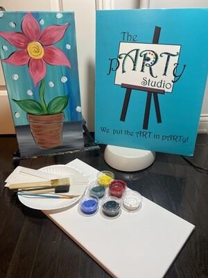 Let Love Grow 10x20 Canvas & Paint Kit