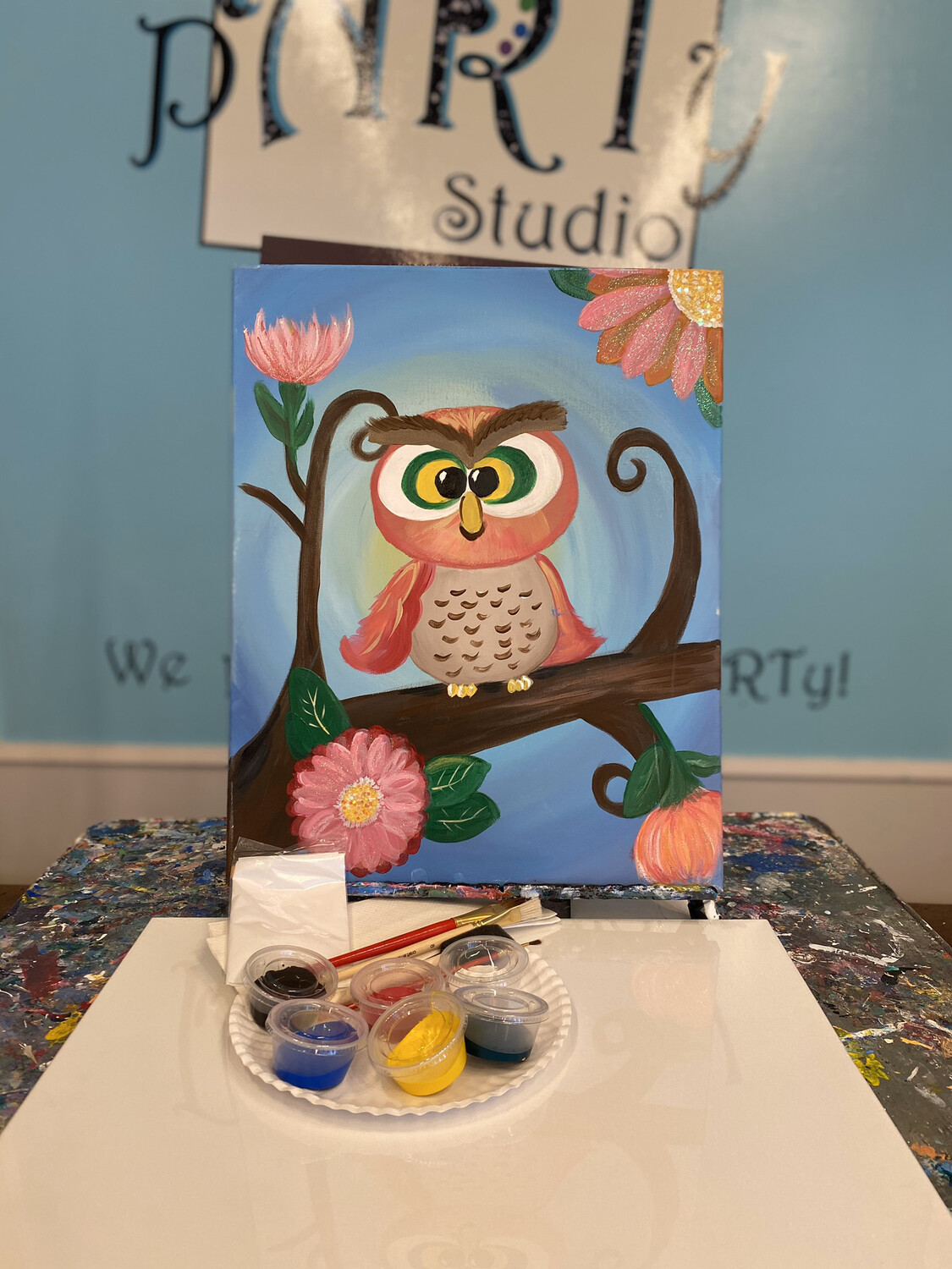 Pink Owl Paint pARTy Kit 16x20