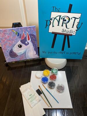 Unicorn Emoji At-Home Art Kit 12x12