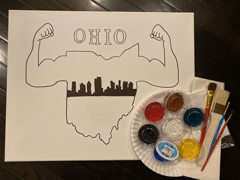 OhioStrong • At Home Art Kit 16x20 Canvas