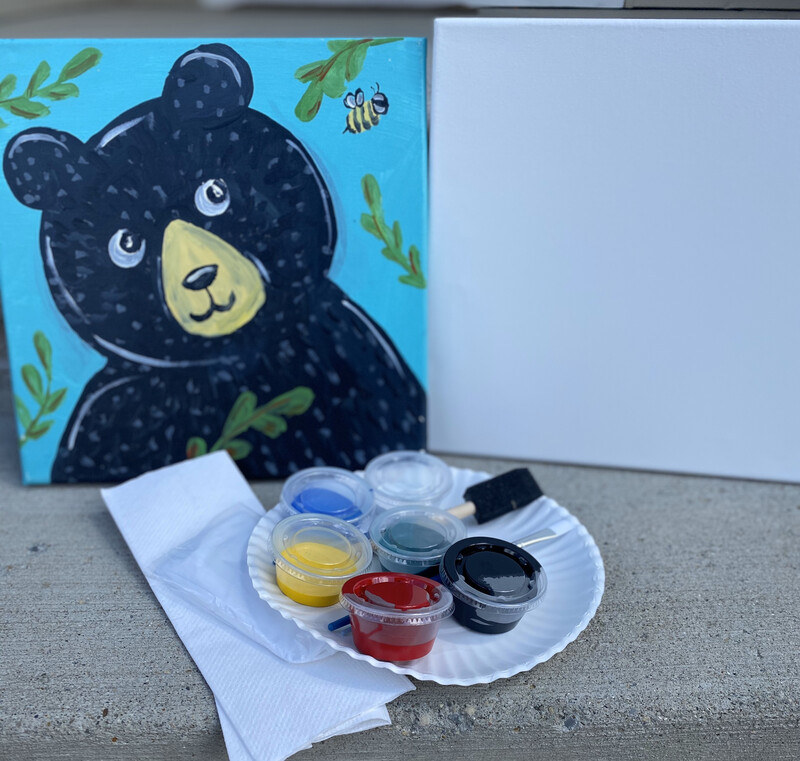 Curious Bear • At Home Art Kit 12x12