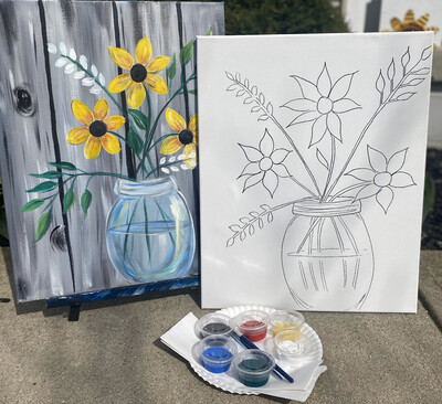Vase Of Flowers • At Home Art Kit 16x20