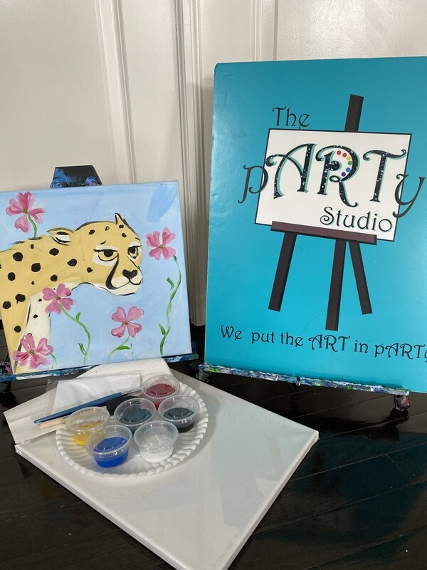 Cheetah  At Home Art Kit 12x12