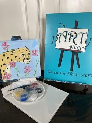 Cheetah  At Home Art Kit 12x12