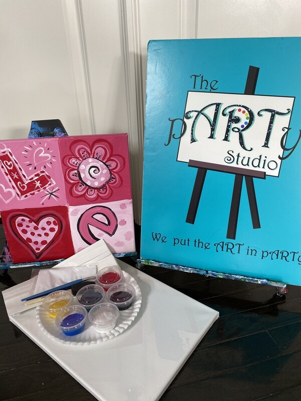 Love Block  At Home Art Kit  12x12