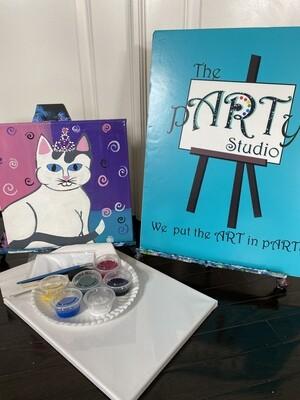 Kitty  At Home Art Kit 12x12