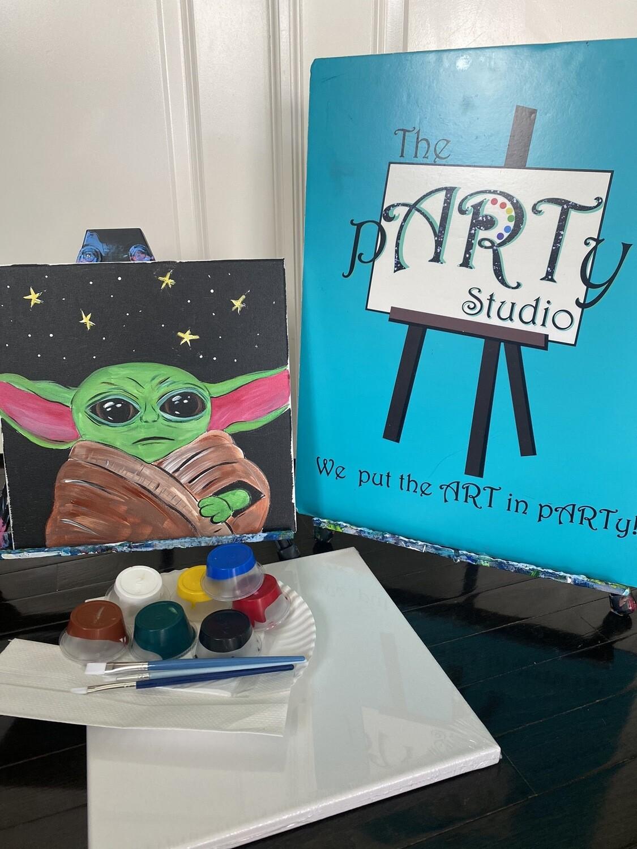 Baby Yoda • At Home Art Kit 12x12