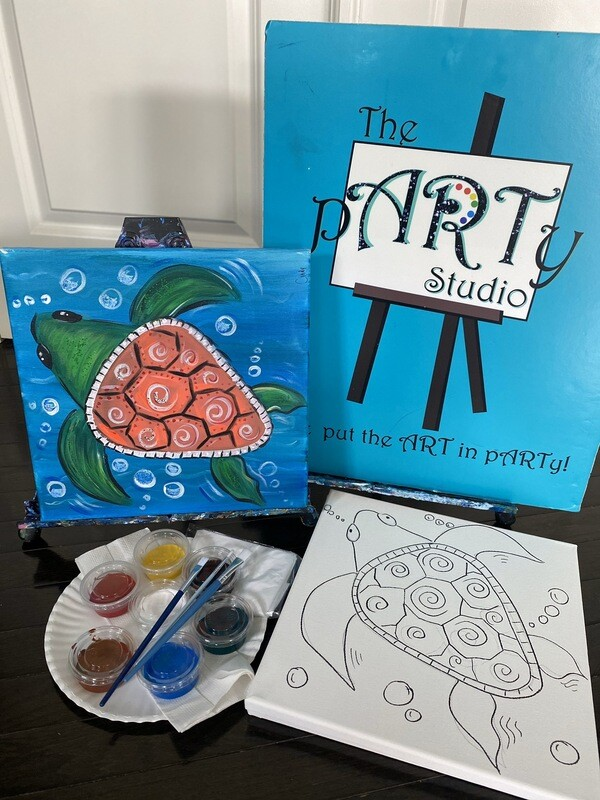 Sea Turtle • At Home Art Kit 12x12