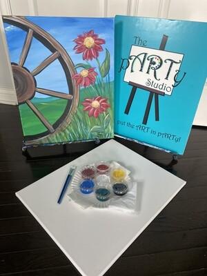 Wagon Wheel ~ At Home Art Kit 16x20