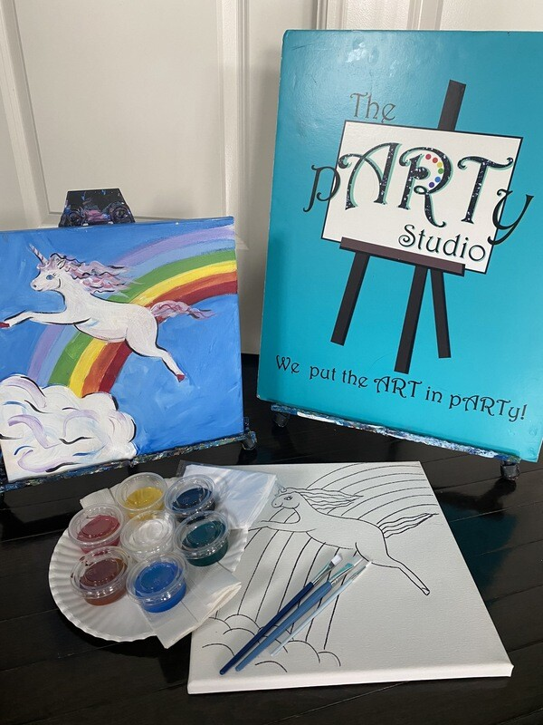 Rainbow Unicorn - At Home Art Kit 12x12