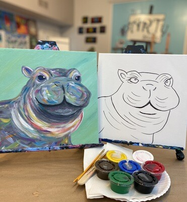 Fiona the Hippo • At Home Art Kit 12x12