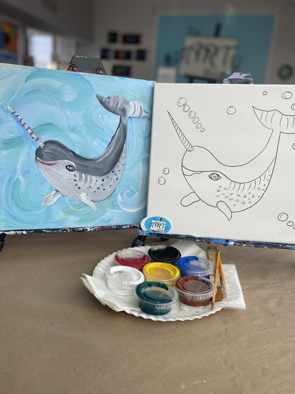 Narwhal At Home Art Kit 12x12
