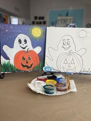 Ghost & Pumpkin At Home Art Kit 12x12