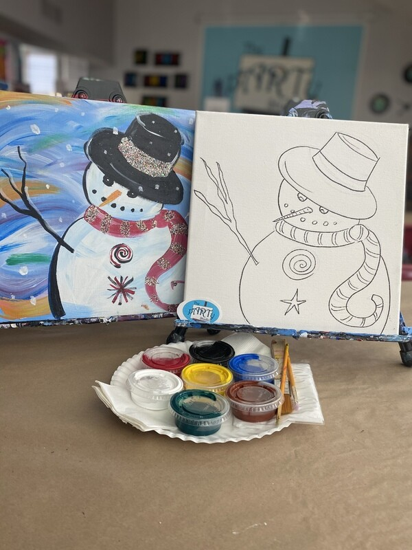 Lil Snowman At Home Art Kit 12x12