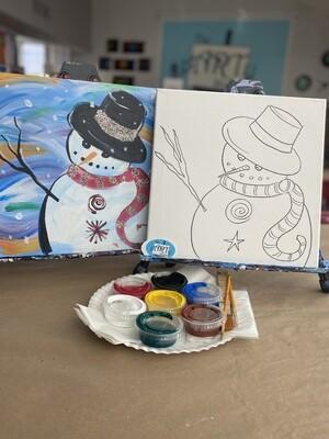 Lil Snowman At Home Art Kit 12x12