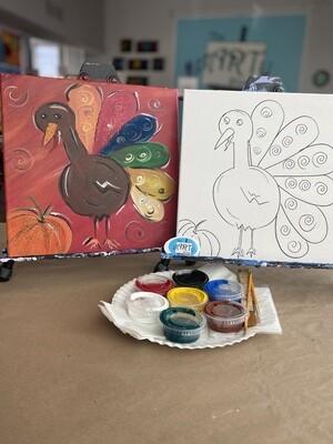 Thankful Turkey At Home Art Kit 12x12
