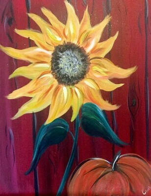 9/25/2020  6:30pm - 9:30pm 'Sunflower'  Paint Night @ The pARTy Studio
