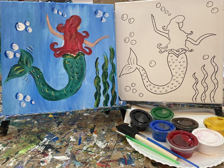 Under The Sea Mermaid - At Home Art Kit 12x12