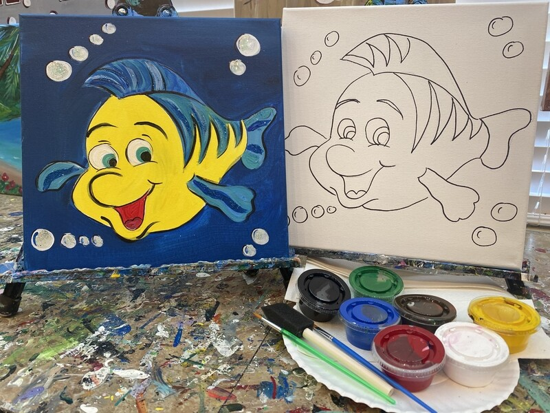 Flounder - At Home Art Kit 12x12