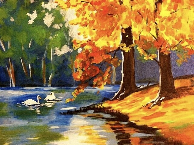 """9/23/2020  6:30pm - 9:30pm """"Swan Lake"""" Paint Night @ The pARTy Studio"""