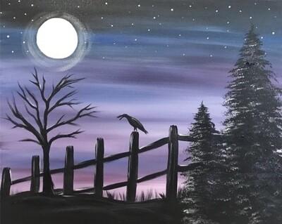 10/1/2020  6:30pm - 9:30pm Purple Sky Paint pARTy @ The pARTy Studio