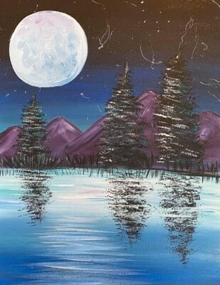 10/23/2020  6:30pm - 9:30pm Purple Mountains Paint Night @ The pARTy Studio