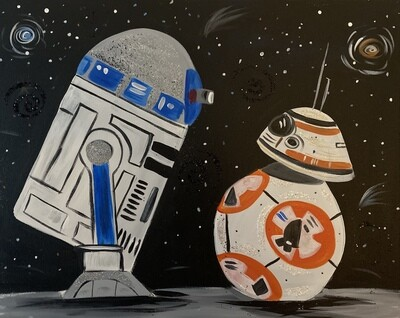 10/28/2020  6:30pm - 9:30pm Star Wars Paint Night @ The pARTy Studio