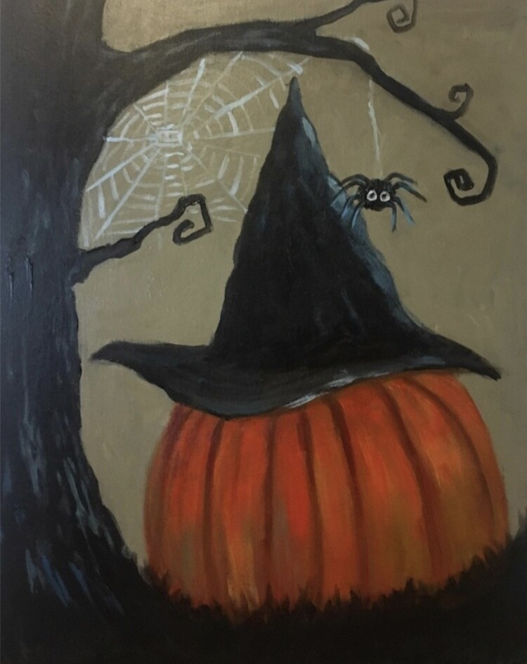 10/20/2020  6:30pm - 9:30pm Witch Hat on Pumpkin Paint Night @ The pARTy Studio