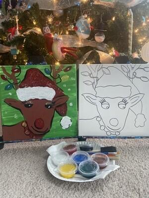 Rudolph At Home Art Kit 12x12