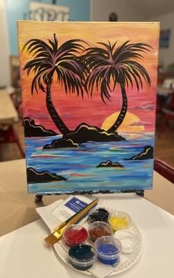 "Tropical Island ""At Home Art Kit"" 16x20"