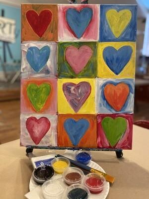 Lots O Hearts - At Home Art Kit 16x20