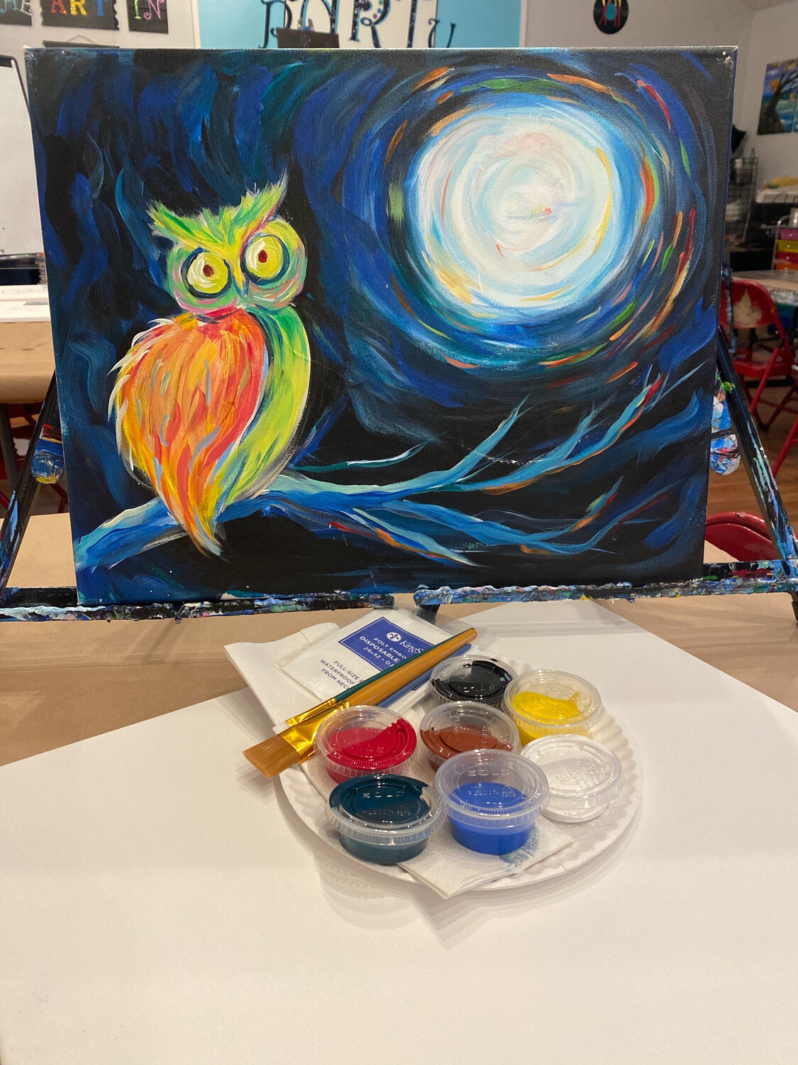 Night Owl • At Home Art Kit 16x20