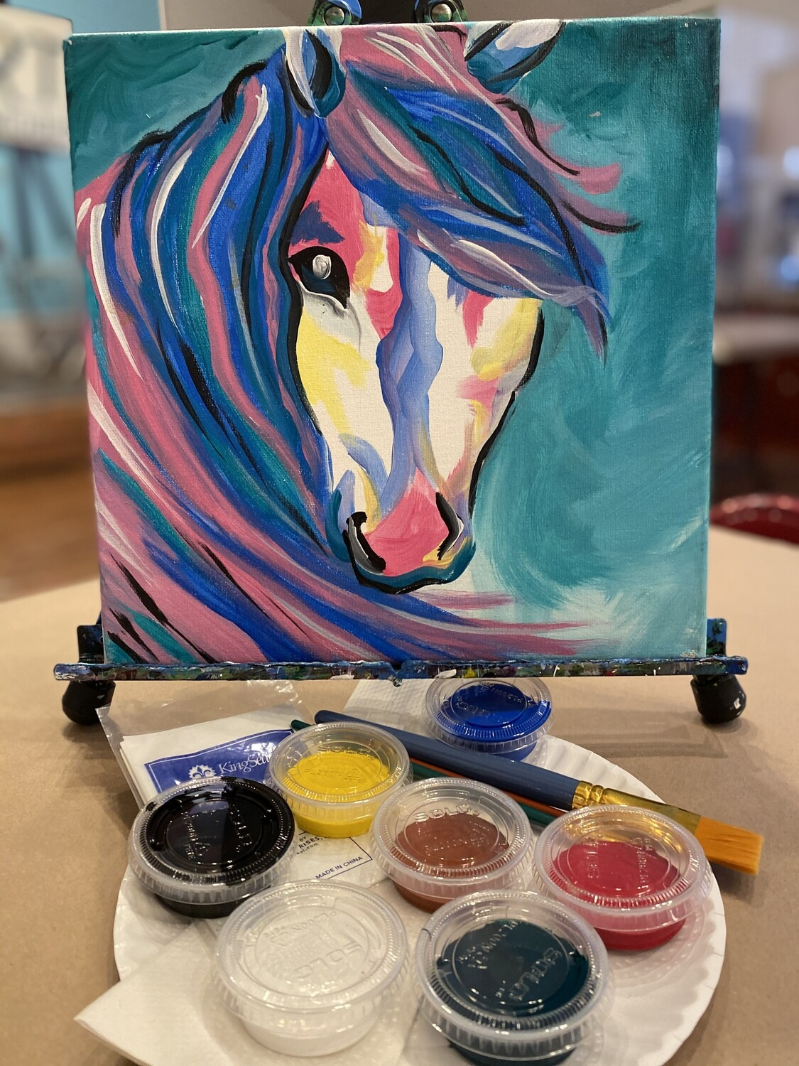 Colorful Horse - At Home Art Kit 12x12