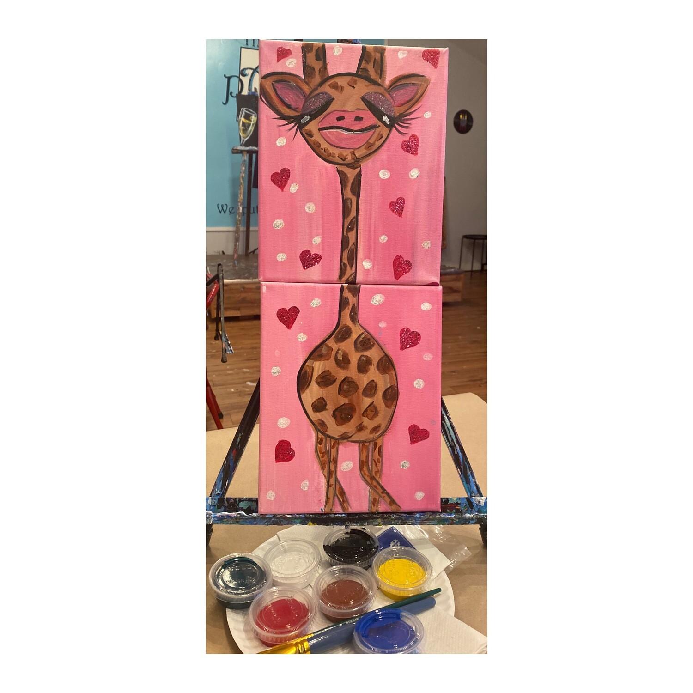 Baby Giraffe ~ At Home Art Kit (2 - 8x10)