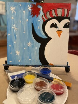 Cute Penguin - At Home Art Kit 12x12