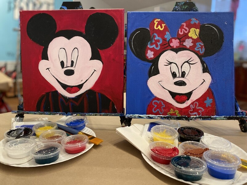 Mickey & Minnie - At Home Art Kit  12x12
