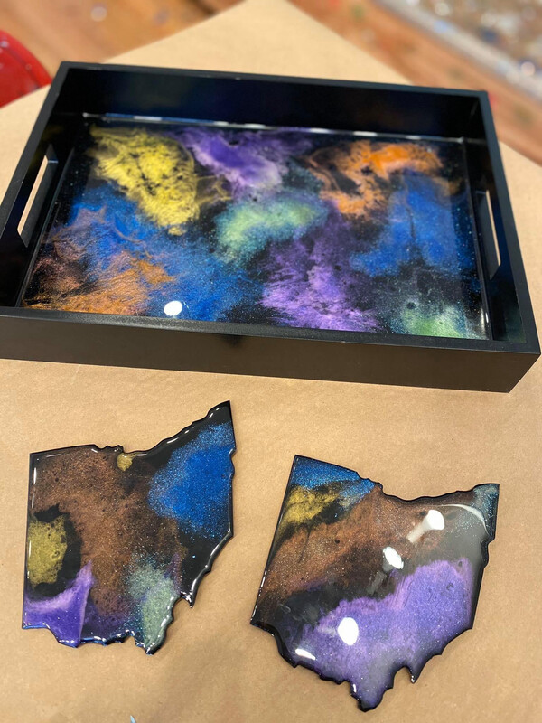 4/21/2021  6:30pm - 9:30pm DIY Workshop: Resin Tray & Ohio Shaped Coaster  with Mulder Artistry @ The pARTy Studio (NO COUPONS / NO DISCOUNTS)