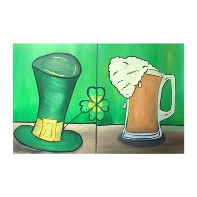 3/17/2021  6:30pm -9:30pm Luck O the Irish Paint Night @ The pARTy Studio (Special Event - No Discounts / No Coupons Accepted)