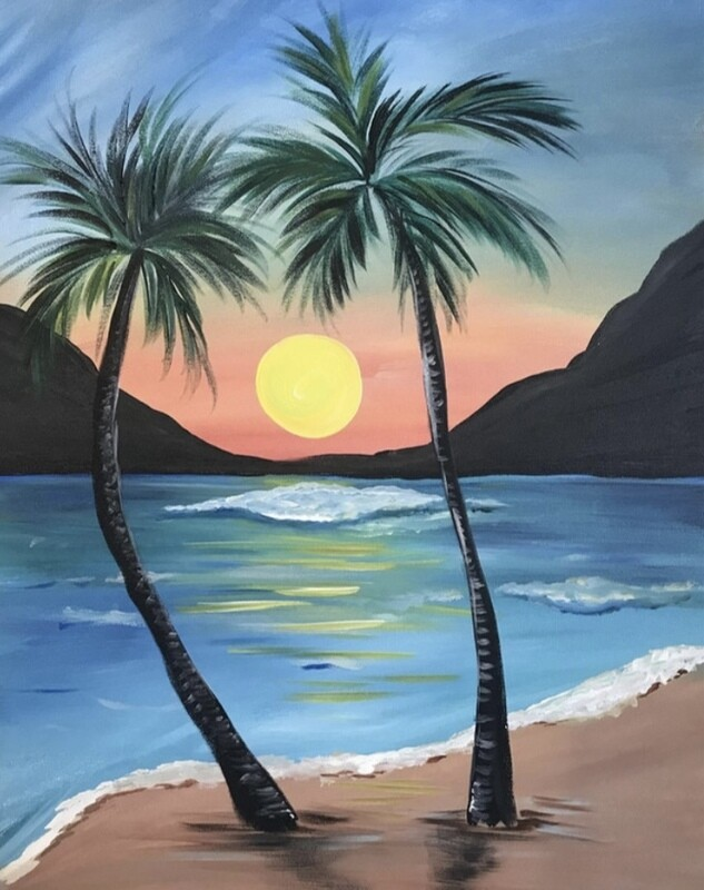 3/23/2021  6:30pm - 9:30pm Paradise Sunset Paint Night @ The pARTy Studio