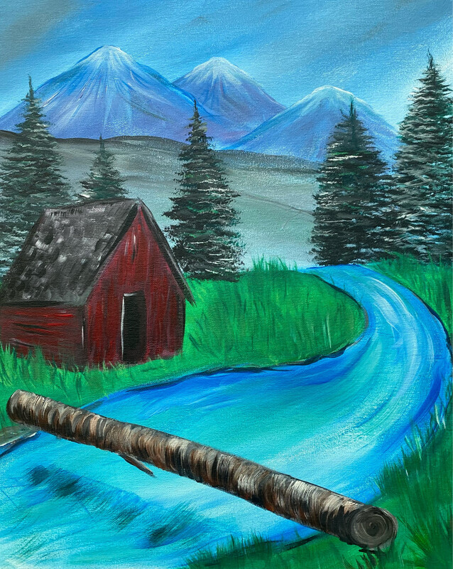 3/11/2021  6:30pm - 9:30pm Red Cabin Paint Night @ The pARTy Studio