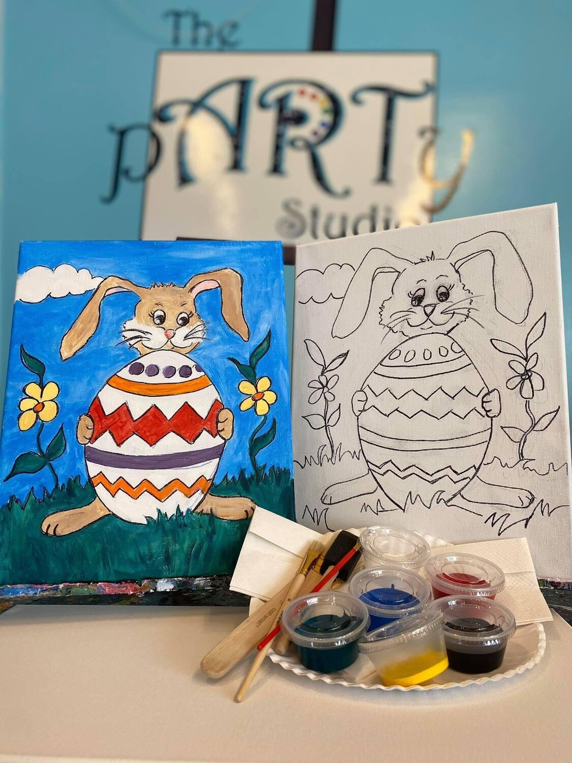 Easter Bunny - At Home Art Kit 12x12
