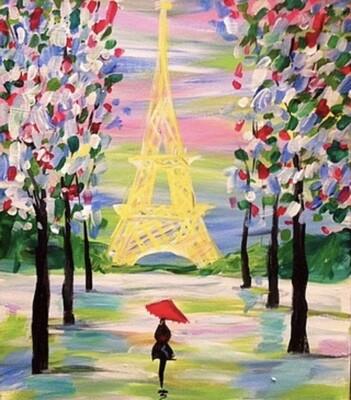 5/14/2021 6:30pm - 9:30pm Spring in Paris Paint pARTy  @ The pARTy Studio
