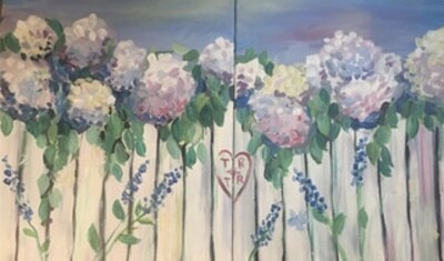 5/22/2021  6:30pm -7:30pm Date Night: 'White Picket Fence' Paint Night @ The pARTy Studio