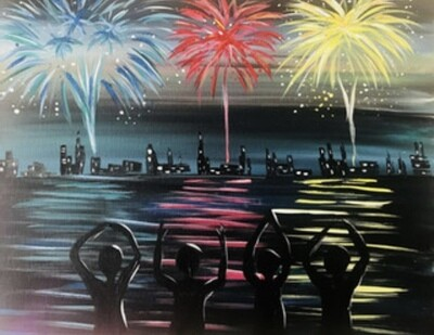 """5/28/2021  6:30pm - 9:30pm """"Ohio Fireworks"""" Paint Night @ The pARTy Studio"""