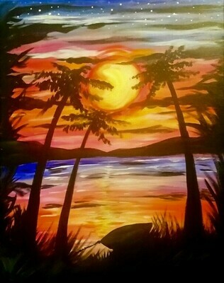 5/19/2021  6:30pm - 9:30pm Evening Paradise Paint Night @ The pARTy Studio