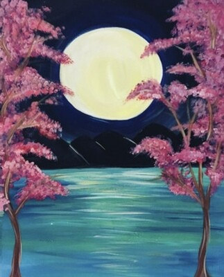 5/12/2021  6:30pm - 9:30pm 'Tropical Moon' Paint Night @ The pARTy Studio