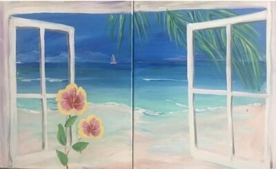"6/11/2021  6:30pm - 9:30pm Date Night ""Couples Retreat"" Paint Night @ The pARTy Studio"