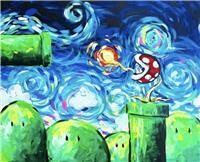 "6/23/2021  6:30pm - 9:30pm ""Mario Starry Night"" Paint Night @ The pARTy Studio"