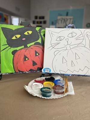 Kitty & Pumpkin - At Home Art Kit 12x12
